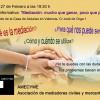 """27/02/15 Charla informativa """"Mediación, mucho que ganar, poco que perder"""" en la CdA"""